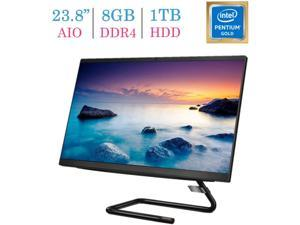 Lenovo Ideacentre 23.8'' FHD(1920x1080) All-in-One Desktop PC, Intel Pentium Gold G6400T 3.4GHz, 8GB DDR4, 1TB HDD, DVD-RW, HDMI, Bluetooth, Keyboard & Mouse, Windows 10 Home w/Mazepoly Accessories