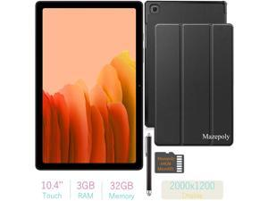2021 Samsung Galaxy Tab A7 10.4'' (2000x1200) TFT Display Wi-Fi Tablet Bundle, Qualcomm Snapdragon 662, 3GB RAM, Bluetooth, Dolby Atmos Audio, Android 10 OS w/Mazepoly Accessories (32GB, Gold)