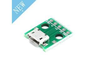 10pcs Mini Micro USB To DIP 2.54mm Adapter 5pin Female Connector Module Board Panel Female 5-Pin Pinboard B Type PCB