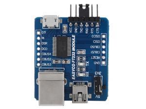 3 in 1 FT232RL Multi-function USB to B Type/Mini/Micro Interface Serial Port Converter Module