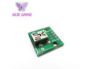 100pcs MINI USB to DIP Adapter 5pin female connector B type pcb converter