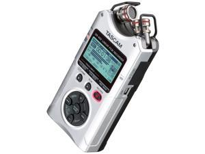 Tascam DR-40X 4-Track Portable Audio Recorder with Adjustable Stereo Microphone (Silver)