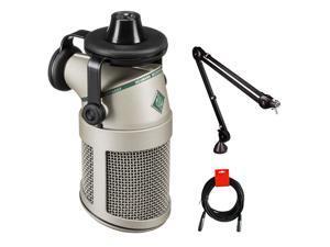 Neumann BCM 705 Dynamic Broadcast Microphone with Rode PSA1 Boom Arm & XLR-XLR Cable Bundle
