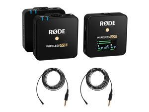 Rode Wireless GO II 2-Person Compact Wireless Mic System/Recorder Bundle with 2x Omnidirectional Lavalier Microphone