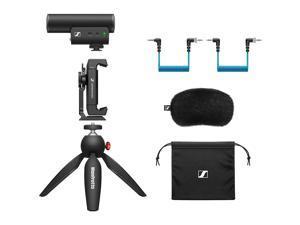 Sennheiser MKE 400 Mobile Kit Camera-Mount Shotgun Microphone with Smartphone Recording Bundle