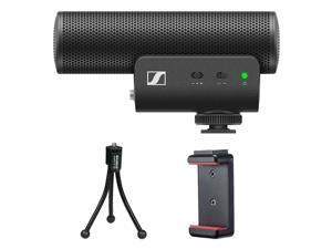 Sennheiser MKE 400 Camera-Mount Shotgun Microphone (2nd Generation) Bundle with Compact Tabletop Tripod and Smartphone Tripod Mount