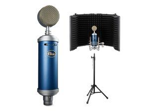 Blue Bluebird SL Large-Diaphragm Condenser Studio Microphone with RF-5P-B Reflection Filter and RFMS-580 Reflection Filter Tripod Mic Stand Bundle