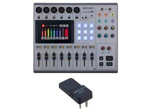 Zoom PodTrak P8 Portable Multitrack Podcast Recorder Bundle with with Zoom BTA-2 Bluetooth Adapter