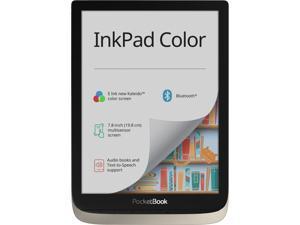 "PocketBook InkPad Color. 7.8'"" E Ink new Kaleido™; Frontlight; Dual Core (2x1 GHz); RAM: 1GB; Internal storage: 16GB; Accumulator: 2900 mAh (Li-Ion Polymer); Audio."