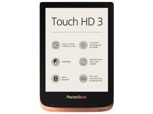 "PocketBook Touch HD 3 Copper. 6"" E Ink® Carta™; HZO ProtectionTM (IPX 7); SMARTlight; Dual Core (2x1 GHz); Flash memory: 16GB; Accumulator: 1500 mAh (Li-Ion Polymer)"