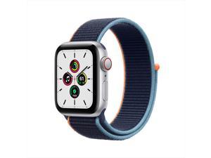 Apple Watch SE 40mm GPS + Cellular Silver Aluminium Case with Deep Navy Sport Loop -NEW SEALED