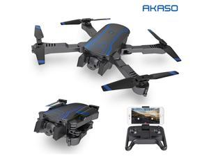 AKASO A300 Drone Foldable with Dual Camera 1080P HD FPV Drones Live Video 4-Axis 2.4GHz Altitude Hold Foldable Arms RC Drones for Kids Beginners Adults
