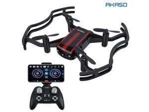 AKASO A21 Mini Quadcopter Drone Camera Live Video with 720P HD FPV WiFi RC Drone for Kids Beginners Adults - with One Key Take-Off/Landing, Optical Altitude Hold