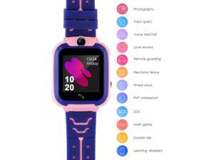 Waterproof Tracker Smart Kids Child Watch Anti-lost SOS Call For iOS Android US-BLUE