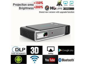 8500Lumens DLP Android 4K 3D Wifi HD 1080P Video Home Theater Projector US