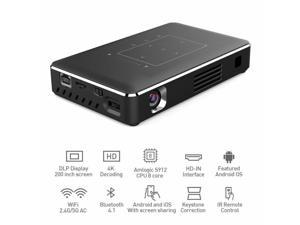 5000 Lumen DLP Android Wifi 4K HD 1080P TOUCH Projector HDMI 2G+16G HDMI USB New