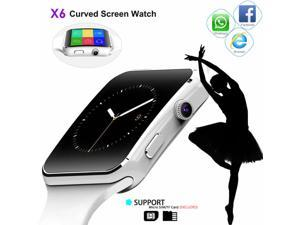 Smart watch x6 iPhone Android IOS Support SIM Bluetooth Black