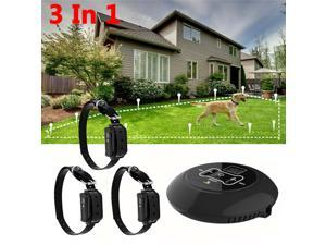 New 3 In 1 Wireless Electric Dog Pet Fence Containment System Transmitter Collar