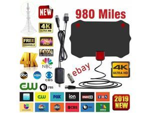 980 Miles Digital TV Antenna Signal Booster Amplifier HDTV Indoor USB 13ft