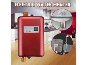 110V 3800W Instant Electric Tankless Hot Water Heater Bath Kitchen Washing Fauce-red