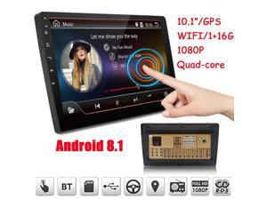 """10.1"""" 2Din Quad Core Car Stereo Radio GPS Wifi Touch MP5 Player Android 8.1 16G"""