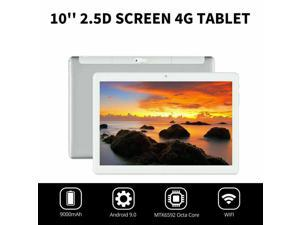 """10.1"""" WIFI/4G-LTE Metal Tablet Android 9.0 Pad 2.5D HD Screen 4+64G Dual Camera-silver"""