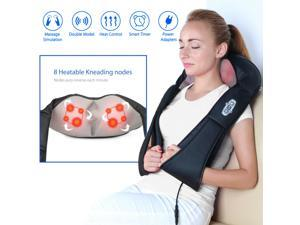 Shiatsu Neck Shoulder and Back Deep Kneading Massager with Heat and Car Adapter