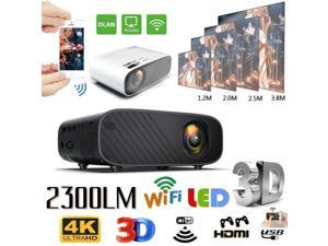 1080P HD WiFi Portable 3D LED Mini Video Projector Home Cinema 23000 Lumens 4K