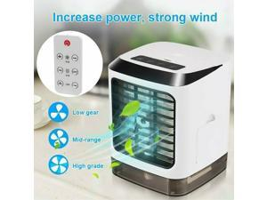 Portable Mini Air Conditioner Water Cool Cooling Fan Cooler Humidifier + Remoter