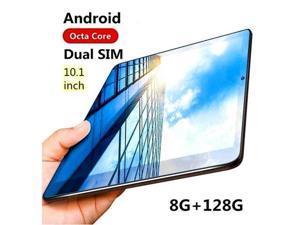 "10.1"" Ultra-thin 4G Tablet PC Android 8+128GB WIFI Dual SIM Triple Camera NEW 2020"
