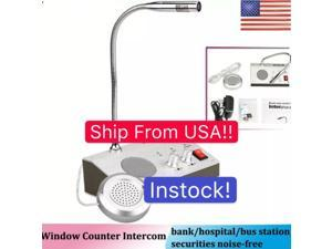 Dual-Way Bank/Office/Station Window Counter Intercom Interphone System 110V US