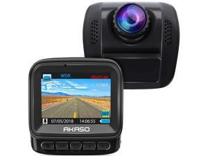 AKASO 1296P Dash Cam - HD Car Dash Camera 170° Wide Angle Dash Camera for Cars with Super Night Vision Car Dash Cam Built-in G-Sensor Parking Monitor Loop Record Car Camera (V300)