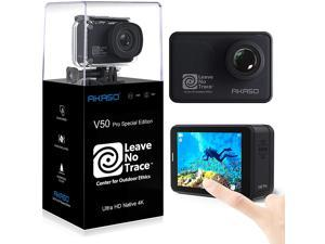 AKASO V50 Pro Native 4K30fps 20MP WiFi Action Camera with EIS Touch Screen 100 feet Waterproof Camera Web Camera Support External Mic Remote Control Sports Camera