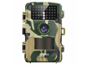 AKASO Trail Camera 14MP 1080P Night Vision Game Camera IP66 Waterproof Hunting Cam with 120°Detecting Range Motion Activated, 2.4 Inch LCD- Loop Recording