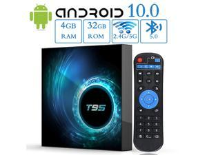 Android 10 TV Box, EASYTONE T95 TV Box 4GB 32GB H616 Chips Media Player Support 2.4G/5G Dual-band WIFI/3D/6K/H.265/BT 5.0 Smart Android Box