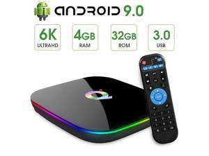 Android TV Box 9.0 with 4GB RAM 32GB ROM Quad-core H6 Media Player Support 6K Full HD Wi-Fi 2.4Ghz USB 3.0 H.265 Decoding Smart TV Box