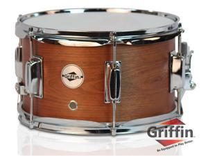 "Popcorn Snare Drum by Griffin|Soprano Firecracker 10"" x 6"" Poplar Wood Shell with Hickory PVC