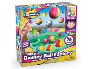 Make Your Own DIY Bouncy Ball Craft Kit for Kids - Create Your Own Metallic & Light-up Crystal Balls STEM Science Birthday Party Favors Projects for Boys & Girls - Makes Up to 75 Balls - Ages 6+
