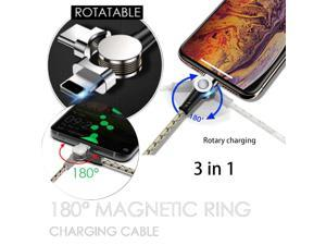 180° Portable Magnetic Ring Quick Charging Cable High Efficiency Mini Data Cable#G20