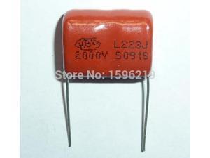 10PCS CBB 222J 2000V CBB81 2200PF 2.2NF P15 Metallized Film Capacitor
