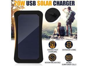 7W 5V Sunpower Solar Panels Charger Bank Backpack Solar Cells with USB Port for Camping Hiking