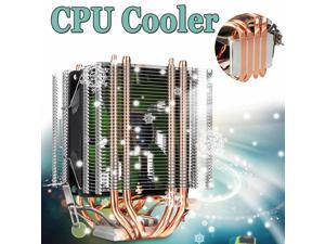 Dual Tower PC CPU Cooler 4 Heatpipes 3pin Radiator Quiet Cooling Fan Cooler for Intel LGA 775/1150/1151/1155/1156/1366 AMD