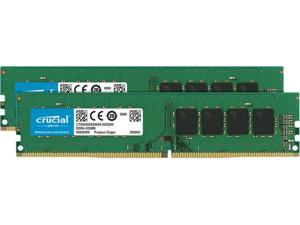 Crucial 8GB Kit (4GBx2) DDR4 2666 MT/s (PC4-21300) CL19 x8 UDIMM 288-Pin Memory - CT2K4G4DFS8266