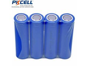 4pcs PKCELL  ICR 18650 2600mah Flat Top Rechargeable Li-ion Battery For Torch Flashlight