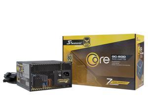 Seasonic Core Series GC-500 500W Fixed cables ATX 80 plus Gold Certified Power Supply ATX 12V