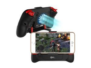 """PUBG Fortnite Mobile Game Trigger, Megadream Phone Game Controller Game Grip Shoot Aim Trigger Gaming Joysticks Build in Cooling Fan and 2000mAh Power Bank for 4.5-6.5"""" Android iOS iPhone"""