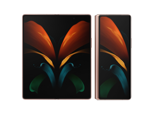 "Samsung Galaxy Z Fold2 5G 256GB 12GB RAM SM-F916N 7.6"" Unlocked US Compatible GSM Only - Mystic Bronze"