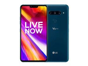 """LG V40 ThinQ 128GB 6GB RAM 6.4"""" 4G LTE Cell Phone Unlocked US Compatible GSM Only - Moroccan Blue"""