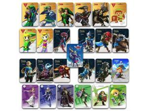 25pc ZELDA BOTW Amiibo Cards for Nintendo Switch Wii U, with 20 Hearts WOLF LINK, LOFTWING