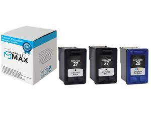 SuppliesMAX Compatible Replacement for HP NO. 27/28 Inkjet Combo Pack (2-Black/1-Color) (C9343BN)